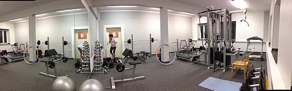 Fitnessraum Innenansicht
