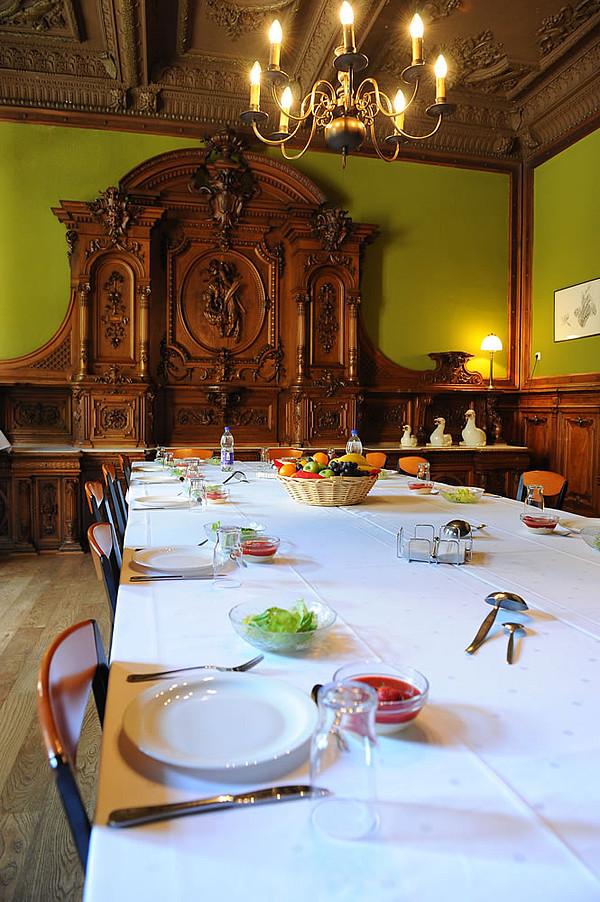 Speisesaal im Schloss Buldern